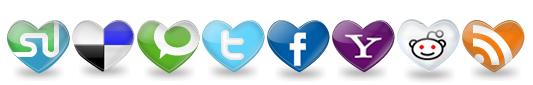HeartSocialBookmark