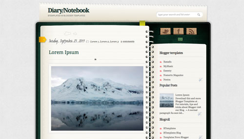 diary-notebook-blogger-template