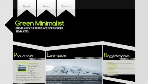green-minimalist-blogger-template
