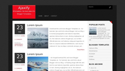 ajaxify-blogger-template
