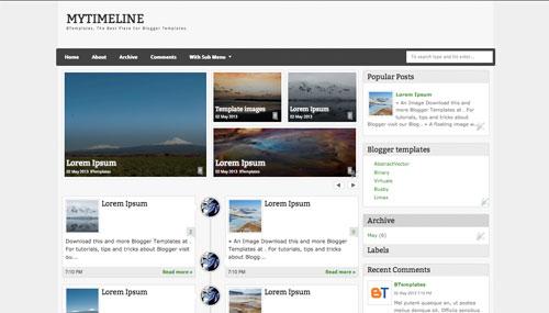 mytimeline-blogger-template