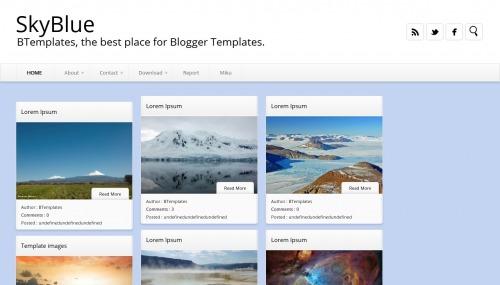 skyblue-blogger-template