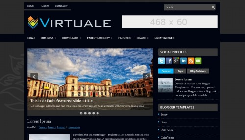 virtuale-blogger-template
