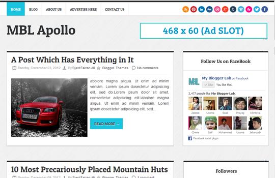 Apollo-Blogger-Template-Layout