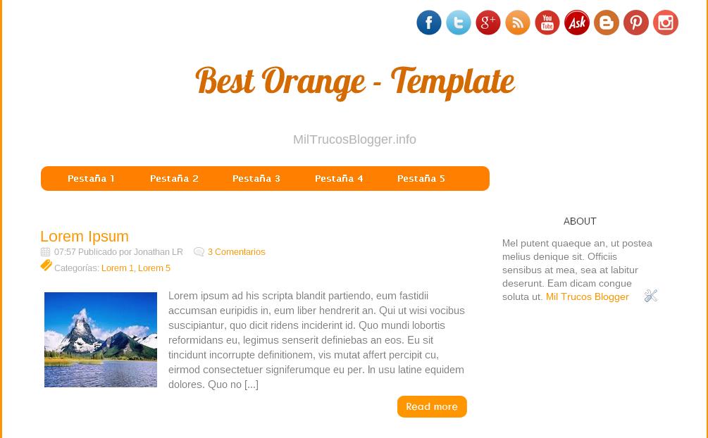 bestorange-template