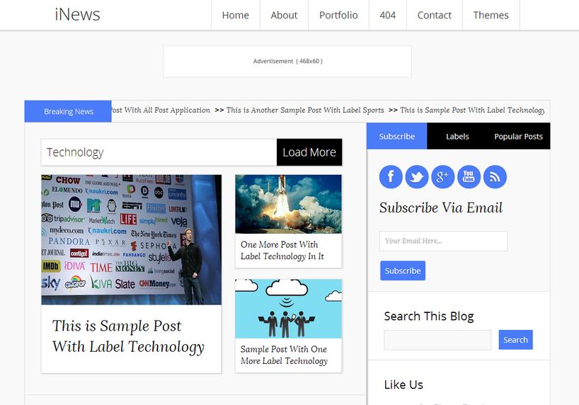 iNews-Blogger-Template