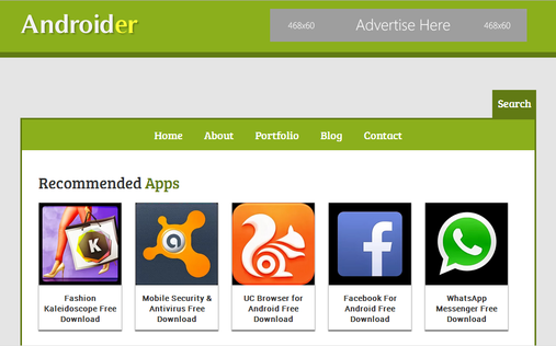 Androider-Blogger-Template