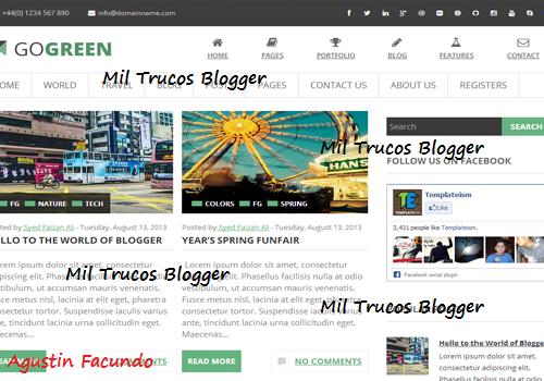 GoGreen-Blogger-Template