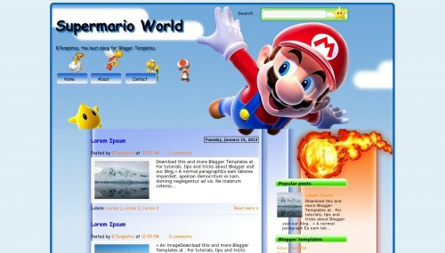 supermario-world-blogger-template