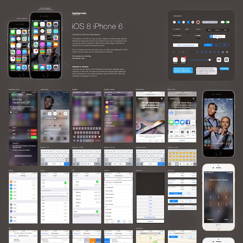 iOS-8-GUI-Template