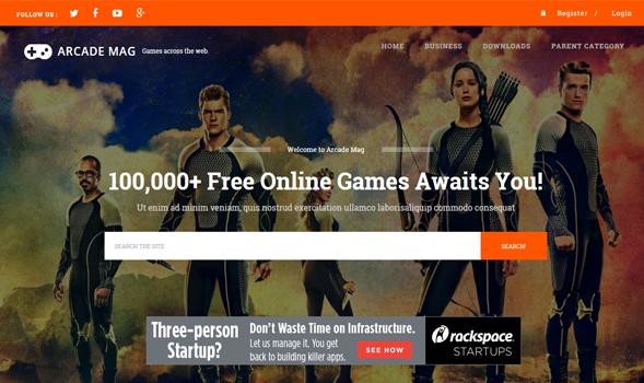 Arcade-Mag-Gaming-Blogger-Template