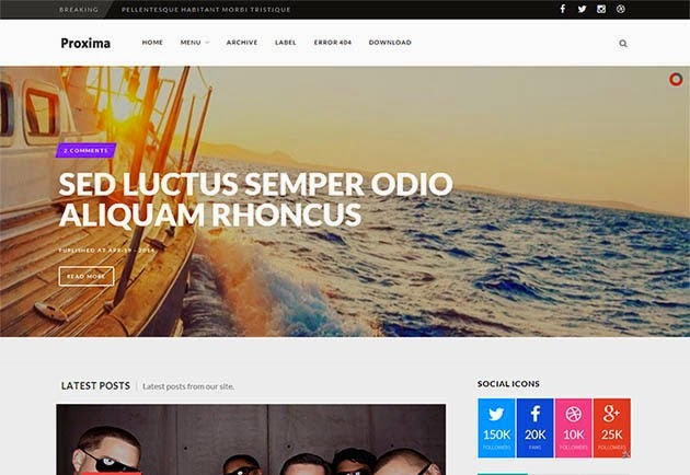 Proxima Responsive- Plantilla Blogger
