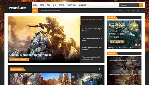 power-game-responsive-blogger-template