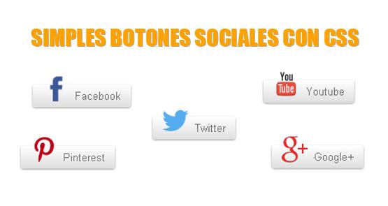 Simples botones sociales logrados con CSS