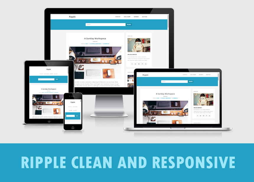 Ripple Clean and Responsive Template