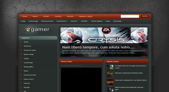 eGamer-blogger-template