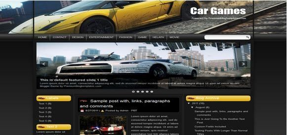 Car-Games-Blogger-Template
