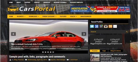 Cars-Portal-Plantilla-Blogger