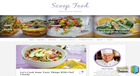 Scoop-Food-Responsive-Blogger-Template