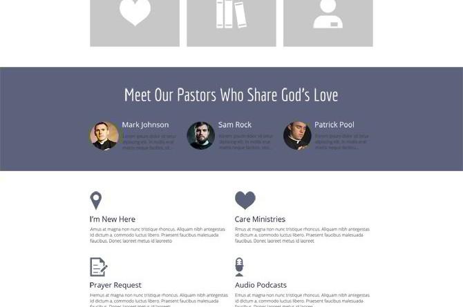"""Plantilla """"For Religious"""" en HTML5"""