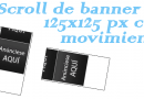 Scroll de banner 125×125 con movimiento