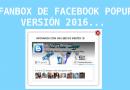 Fanbox de Facebook PopUp versión 2016