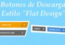 """Botones de descarga estilo """"Flat Design"""""""