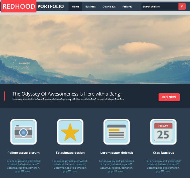 Red Hood Portfolio - Plantilla Responsive para Blogger