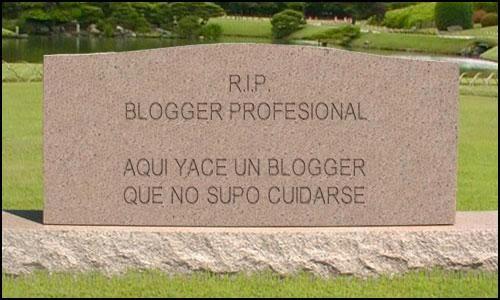 Malos hábitos de un bloguero