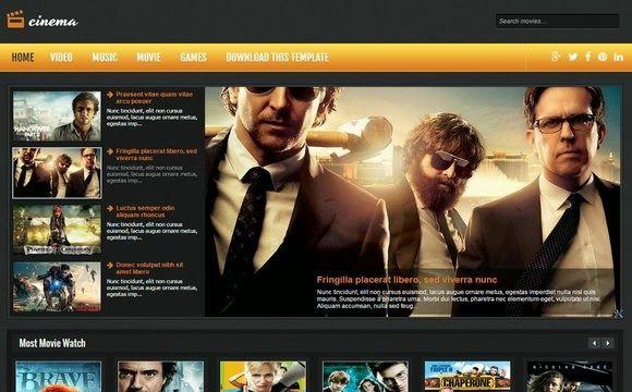 Cinema-Blogger-Template