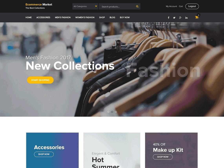 eCommerce Market- Theme eCommerce para WordPress