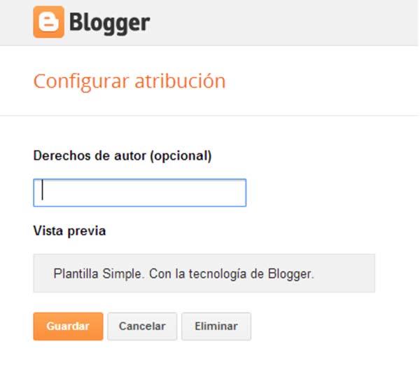 Atribución en Blogger